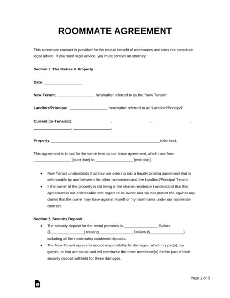 rental lease agreement templates residential
