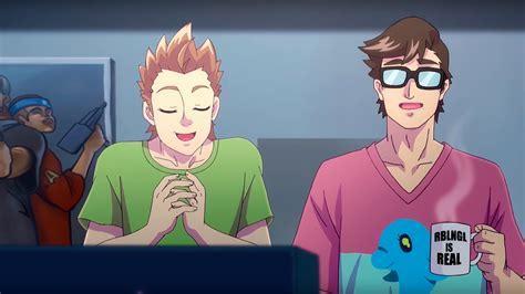 imagenes del virtual hero movistar prepara una serie estilo anime de el rubius