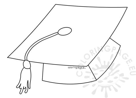 printable graduation templates printable graduation hat template coloring page