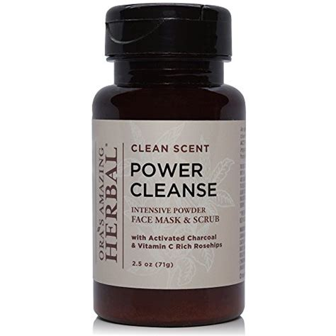 Pici Power Cleanser Detox power cleanse intensive paraben free organic mask exfoliating cleanser scrub