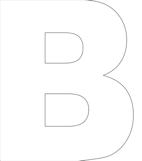 printable hollow letters 7 best images of printable block letters b printable