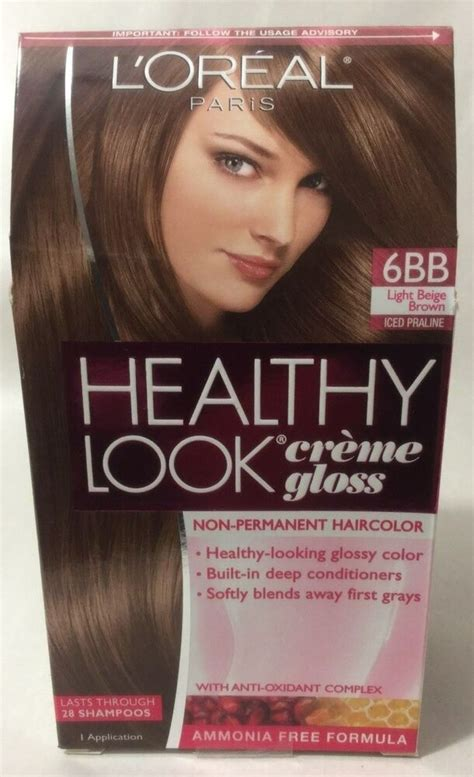 healthy look hair color l oreal healthy look creme gloss hair color light beige
