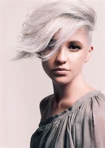 funky hairstyle for silver hair 25 best short haircuts for oval faces short hairstyles