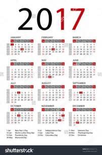 Calendar With Holidays 2017 Holidays 2017 Monthly Calendar 2017