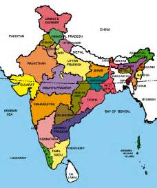 Political Map Of India by Map Of India Republic Of India Maps Mapsof Net