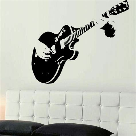 stencil stickers for walls c067 xtra large guitar guitarist wall mural sticker stencil transfer decal wall