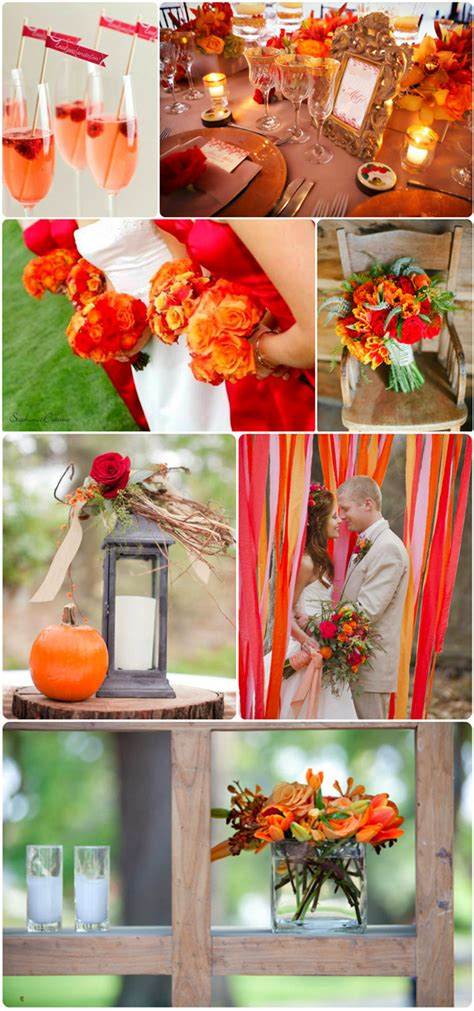 orange wedding colors 6 fall wedding colors ideas and wedding invitations