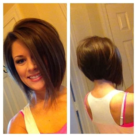 cutting your own short stacked bob short stacked angled bob hairstyles bob hairstyles