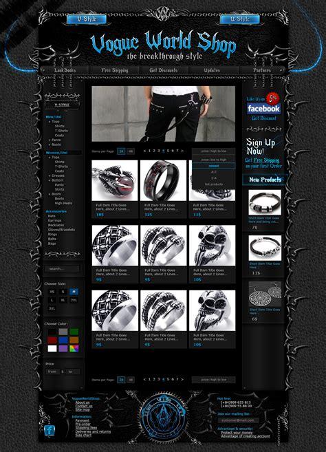 website design jaket modblackmoon unique dark grunge gothic horror web design