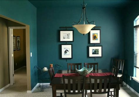 best colors for dark rooms fantastic dark green color in the dining room decobizz com