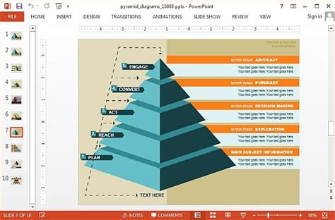 Animated Segmented Pyramid Diagrams For Powerpoint Pyramid Powerpoint Template