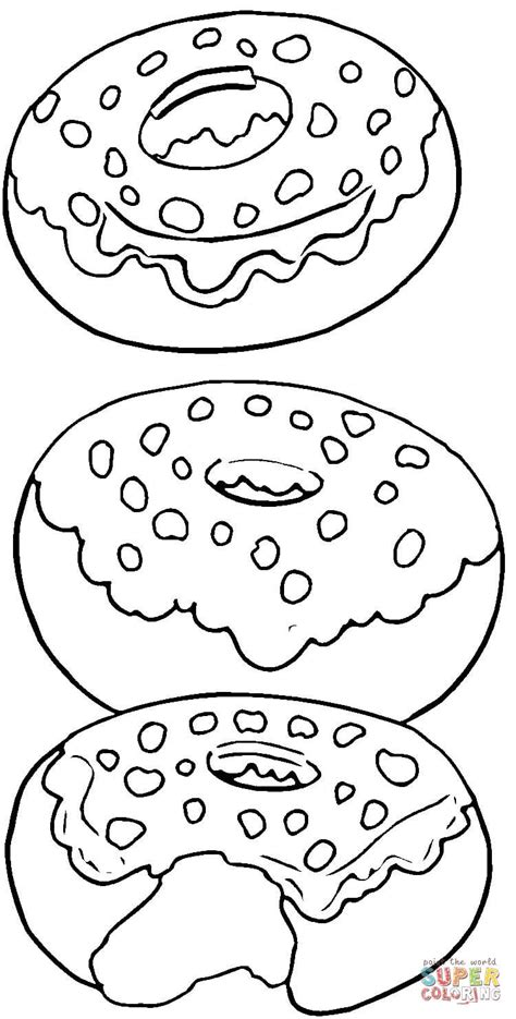 tasty donuts coloring page free printable coloring pages