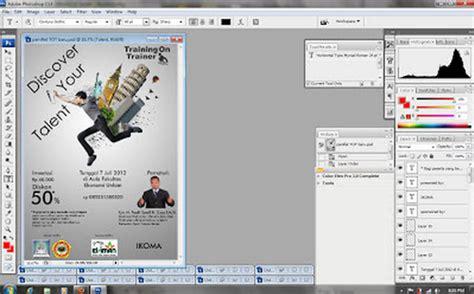 langkah membuat flyer cara membuat desain pamflet dengan photoshop cepat mudah