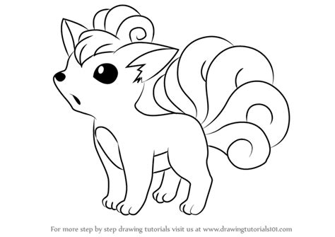 pokemon coloring pages vulpix vulpix from pokemon images pokemon images