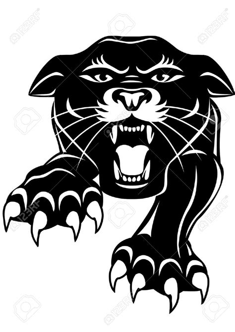 panther clip panther clipart angry pencil and in color panther