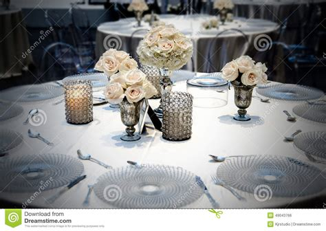 Dining Table Placement Wedding Table Dining Placement With Roses Stock Photo Image 49043766