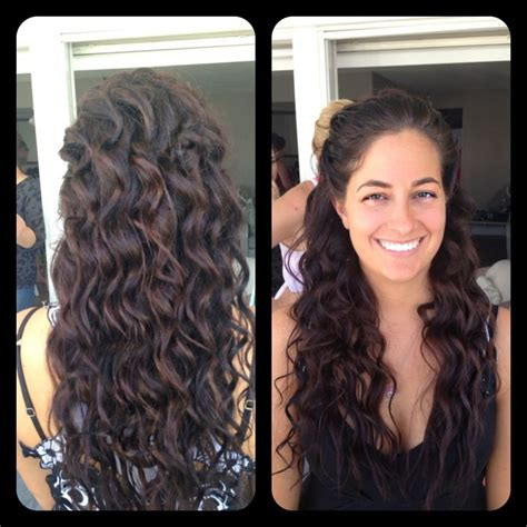 bridesmaid hairstyles useing a curling wand amber heater gorgeous hair salon salisbury md bride