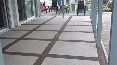 How To Refinish A Concrete Patio by Patio Resurfacing Tropical Patio Ta By Coastal