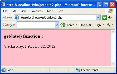 date format getdate php date function in php