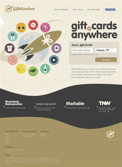 Giftrocket Gift Card - giftrocket online gift cards shopping html5 css showcase gallery css based