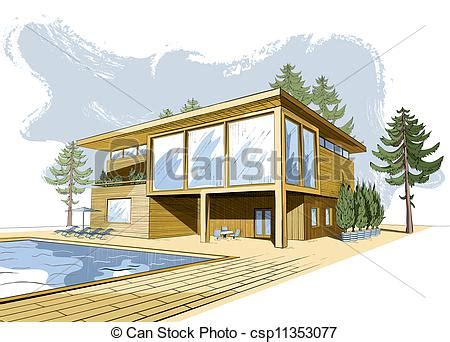 house drawing for colouring modern house vectors illustration of vector colored background with