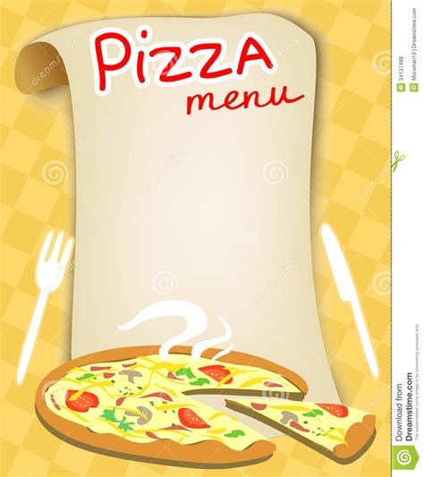 menu for pizza royalty free stock photos image 34137498