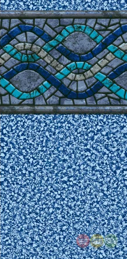 24 ft beaded pool liner for 52 in wall 24 foot pool liner 24 ft above ground pool liner