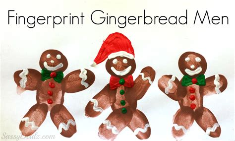 diy fingerprint gingerbread man craft for kids crafty