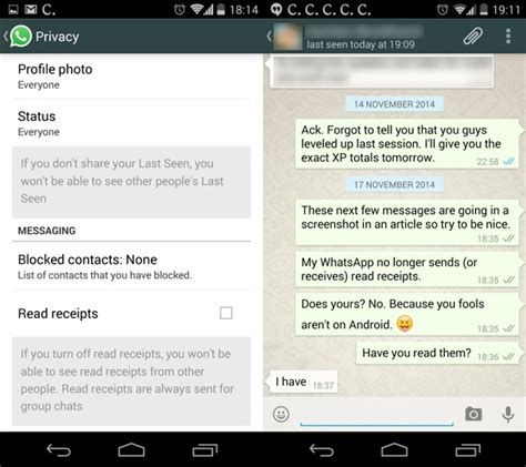 whatsapp s two blue ticks disabling read receipts - Read Receipt Android