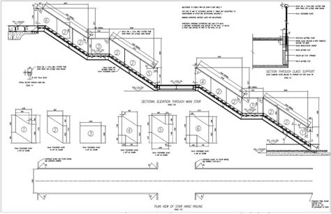 email layout rails architectural stairs railings balcony drawings