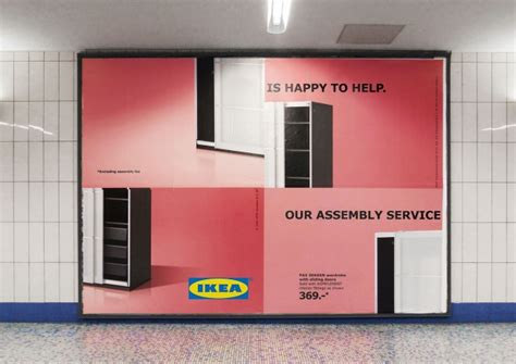 ikea self assembly process design life cycle ikea uses poorly assembled billboards to admit its