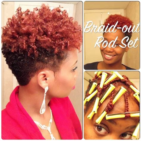 natural hair after five styles braid out rod set on short natural hair video hair rods