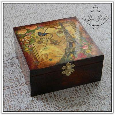 tutorial decoupage sobre carton 17 mejores im 225 genes sobre cajas de madera en pinterest