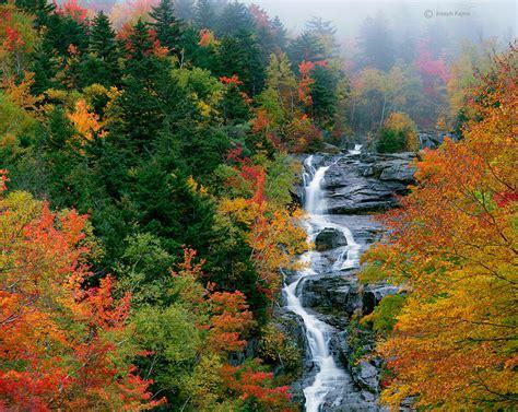 silver cascade nh new england waterfalls silver cascade in fog new hshire joseph kayne