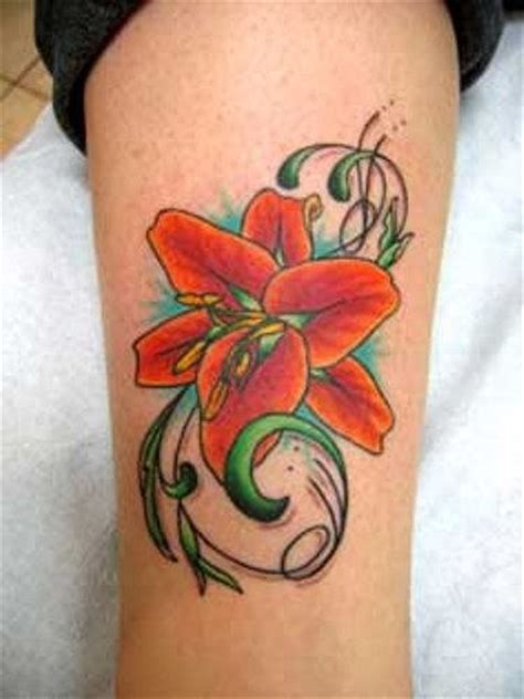 orange lily tattoo designs tattoos page 4