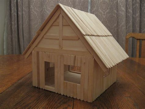 how to build a popsicle stick house build a popsicle stick house wilson pinterest