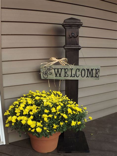 front patio doors my front door welcome sign and post that i made my