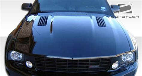 extreme dimensions inventory item   ford mustang duraflex colt hood