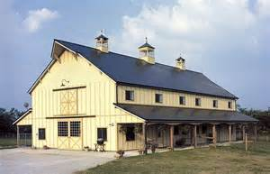 Two Story Pole Barn by Small Pole Barns So Replica Houses