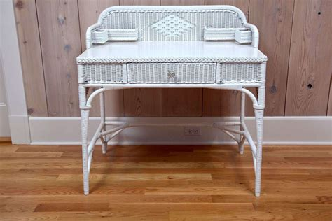 Antique Wicker Desk by Antique Deco Wicker Desk And Chair At 1stdibs