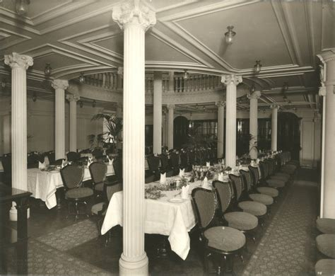 titanic dining room interior of the lusitania 1905 1907 second class dining room lusitania pinterest
