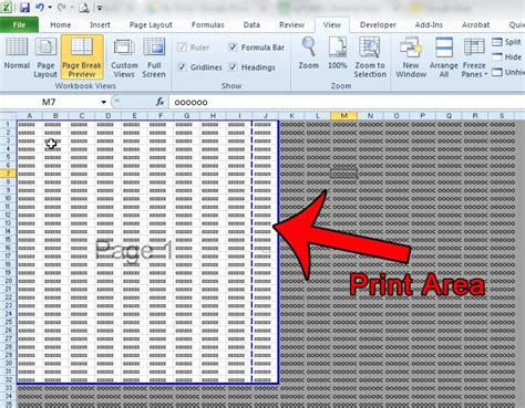 printable area excel how to view the print area in excel 2010 solve your tech