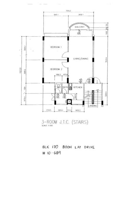 80 Square Meter House Plan jtc 3 room flat