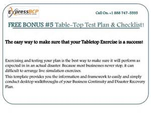 bcp test plan template create your own business continuity plan template