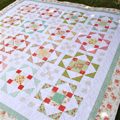 bloom summer s blush a new layer cake pdf quilt pattern