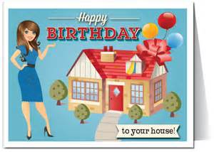 happy birthday to your house real estate card 15228 harrison greetings business greeting
