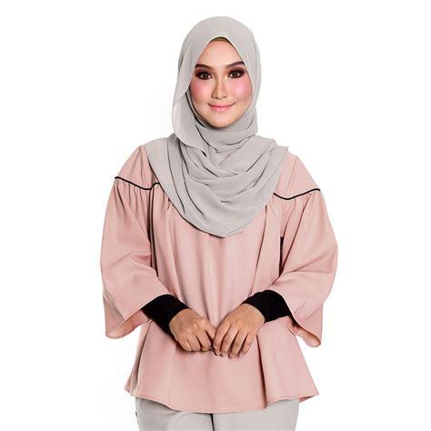 Blouse Hani hani blaus muslimah lengan panjang tangan lebar malaysia
