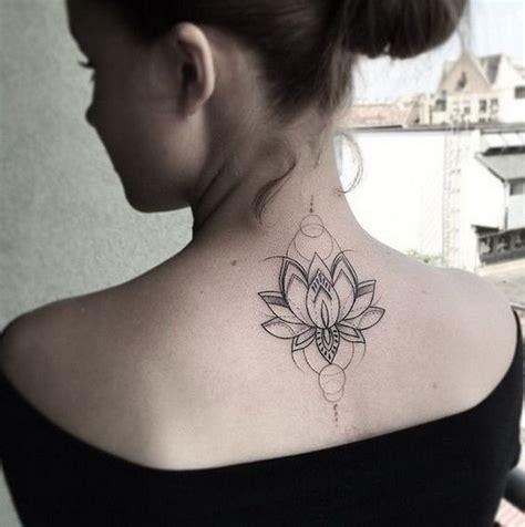 tattoo on upper neck lotus flower on upper back for women tatoos pinterest