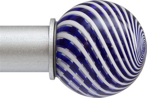 blue glass curtain rod finials ona artglass finials ona drapery hardware