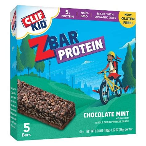 z protein bars clif kid zbar protein chocolate mint whole grain target